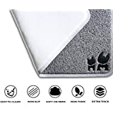 "BRASK PET Cat Litter Mat - Non-Slip Floor Pad w/ Deep Grooves - Easy-to-Clean Scatter Control - Anti-Bacterial, BPA and Phthalate-Free - Industry Leading Thickness (12mm) - X-Large 35"" x 23"""