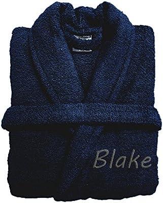 Personalizado Embroiderd Luxury Terry toalla albornoz 100% algodón ...