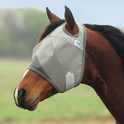 (Cashel Crusader Standard Fly Mask No Ears or Nose Gray - Size: Draft)