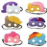 (Set of 6)Children Birthday Party Favors Felt Fun Cosplay Unicorn Masks Novelty Toys ,Childrens Birthday Gifts ,Unicorn Party Supplies