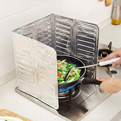 Newest Kitchen Oil Aluminium Foil Plate Gas Stove Oil Splatter Screens Kitchen Tools Cooking Insulate Splash Proof Baffle Plate (Baffle Oil)