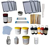 Screen Printing Simple Materials Kit Bundle Squeegee Ink Silk Screen Printing Accesories Supply Hand Tools