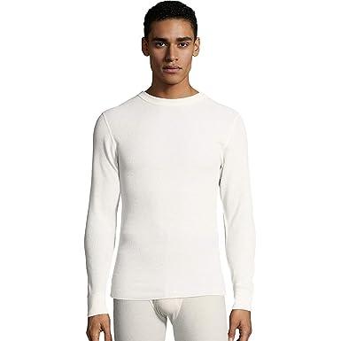 27d5f3319 Hanes Mens Waffle Knit Thermal Crewneck: Amazon.co.uk: Clothing