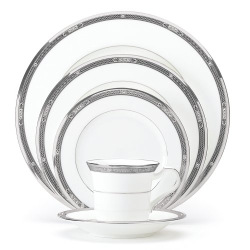 Noritake Chatelaine Platinum 5-Piece Place Setting