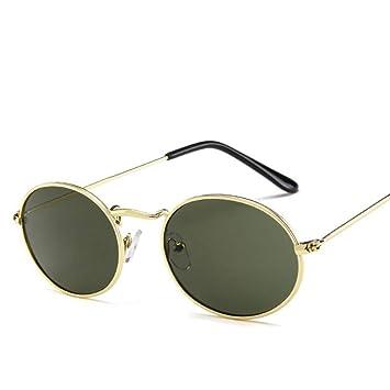 Gafas De Sol Ronda De Lujo Gafas De Sol De Oro Verde Oscuro ...