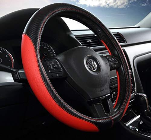 LONG Car Steering Wheel Set Four Seasons GM Interior Products Summer Carbon Fiber Car Handle,Red