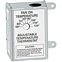 AIR VENT 58033 Single Speed Adjustable Thermostat by Air Vent Inc