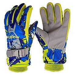 Yobenki Ski Gloves, Winter Waterproof Sn...