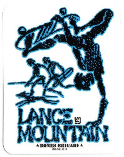 Powell Peralta Skateboard Sticker - Lance Mountain Blue Bones Brigade Official Reissue