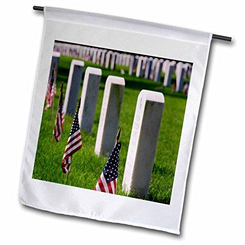 3dRose fl_90349_1 Veteran Tombs National Cemetery Louisville Kentucky - Us18 Aje0236 - Adam Jones Garden Flag, 12 by ()