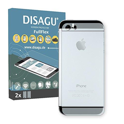 2 x Disagu FullFlex pellicola protettiva, pellicola per Apple iPhone 5s / Apple iPhone SE Rückseite pellicola proteggi-schermo