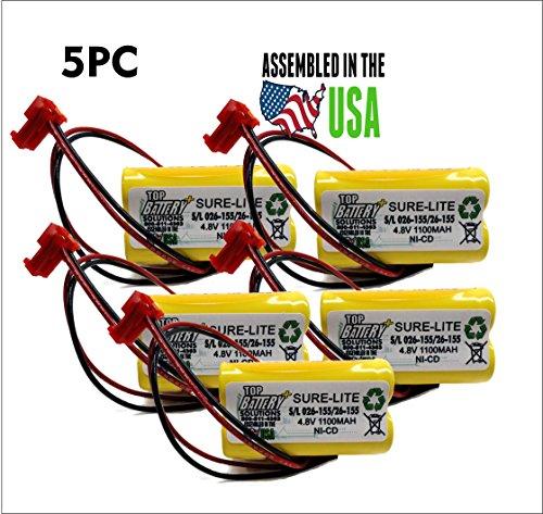 5PC Sure-Lites SL026155 Battery Replacement 4.8v 1.1Ah 26...
