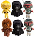 Star Wars Funko (Set of 2), Darth Vader and Boba Fett, Disney Galactic Plushies Cute Stuffed Animals Plush Toys for Kids & Adults (2 Vader, 2 Boba Fett, 1 C-3PO, 1 Chewbacca)