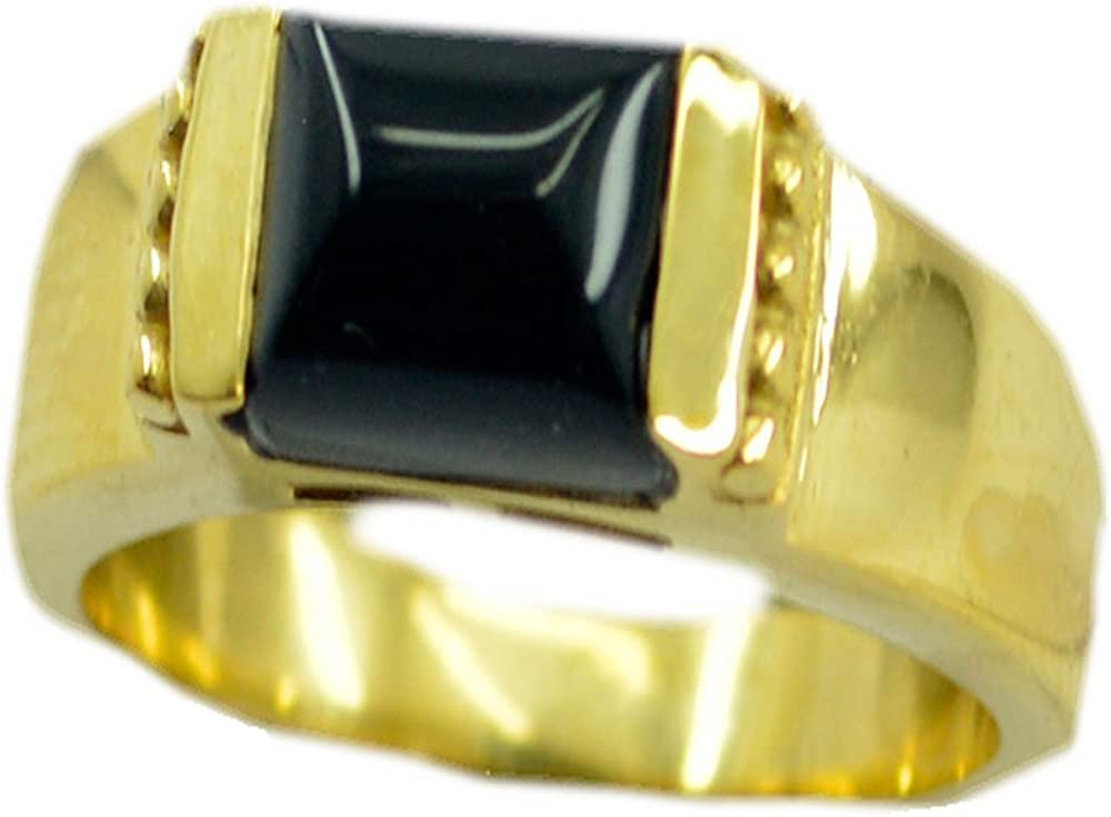 Genuine Green Onyx Gold Plated Ring For Woman Pear Shape Chakra Healing Jewelry Size 5,6,7,8,9,10,11,12