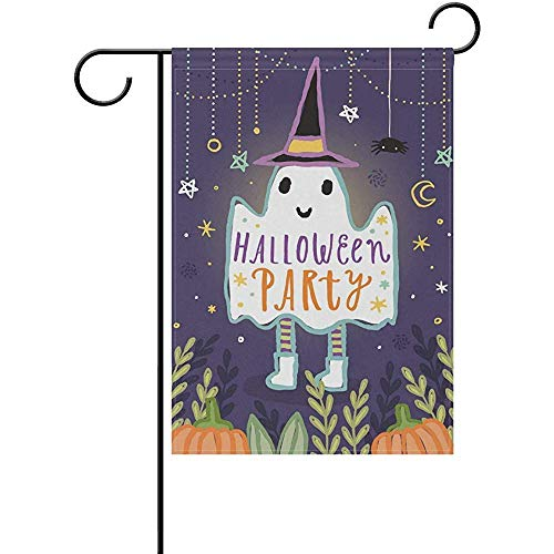 Andrea Back Double Sided Yard Garden Flag, Cute Halloween Party Perfect for Indoor Outdoor Garden Yard Decoration (12