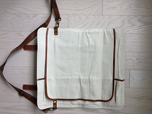 handmade leather chef knife bag chef knife roll 8 pockets tan leather buy online in uae. Black Bedroom Furniture Sets. Home Design Ideas