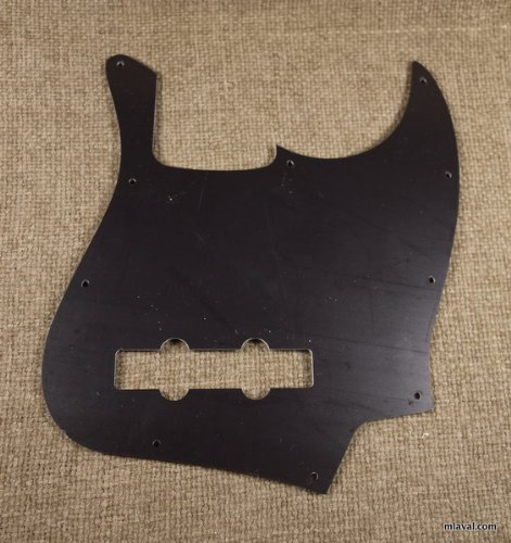 3 Ply Left Handed Guitar Pickguard Fits Fender Jazz Bass JB -BLACK (B44)