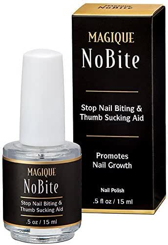 Stop Nail Biting, Stop Thumb Sucking Treatment for Kids & Adults - Promotes Nail Growth - Thumb & Finger Guard - Bitter Taste Polish - Helps Cure Nail Biting & Thumb Sucking-Magique No Bite, 0.5 Fl Oz