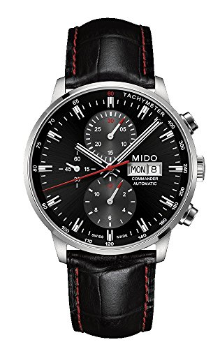 Mido Commander II Black Leather Automatic Watch MD M016.414.16.051.00