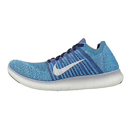 Nike Oceano 404 Scarpe Free Bianco Flyknit da Blu Corsa Donna Brilla Nebbia Wmns RN 6FrxT4q6
