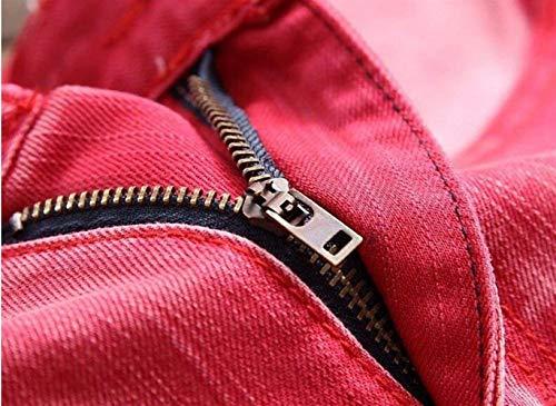 Primavera Di Rot Jeans Del Lavati Estate Slim Modo Nuovo Cotton Svago Giovane Locomotiva Denim Pantaloni Elodiey Dritto Foro ApPdwqp