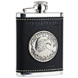 Panda Superstore [Eagle Emblem] Creative Hiking/Camping Stainless Steel Hip Flask, 4oz