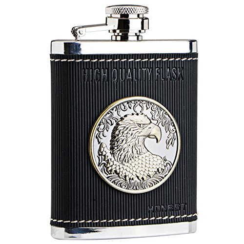 Panda Superstore [Eagle Emblem] Creative Hiking/Camping Stainless Steel Hip Flask, 4oz by Panda Superstore