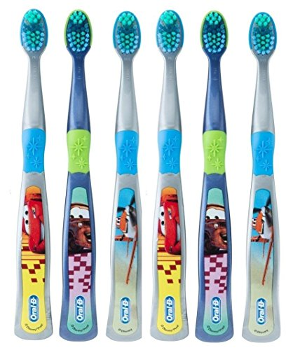 Oral-B Kids Toothbrush, Pro-Health Stages Disney Pixar Cars for Children Ages 5-7 Years Old, Soft (Pack of 6) – Characters Vary