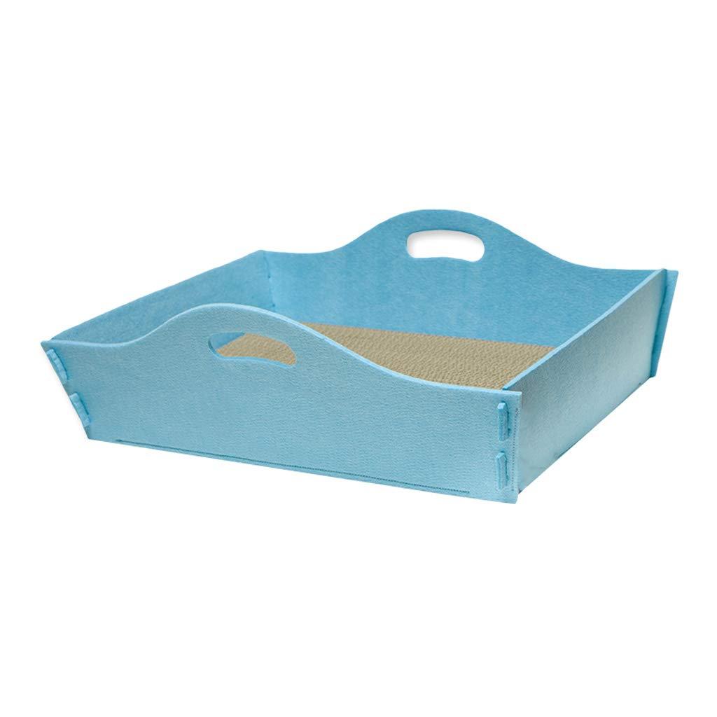 bluee Kennel QIQIDEDIAN Pet Fun Reel Cat Litter Cat Litter Cat Bed Cat House (color   bluee)