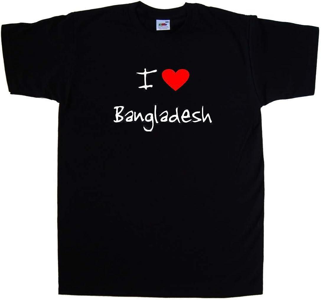 I Love Heart Bangladesh T-Shirt