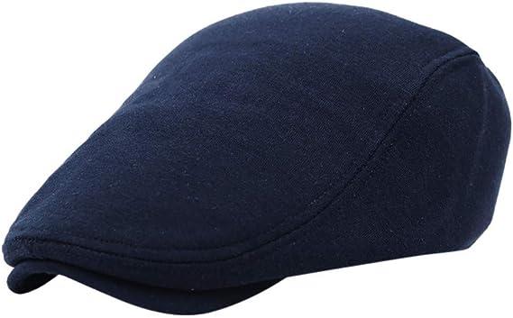 LOPILY Sombreros Boinas Color Sólido Sombrero de Hombre Casquillo ...