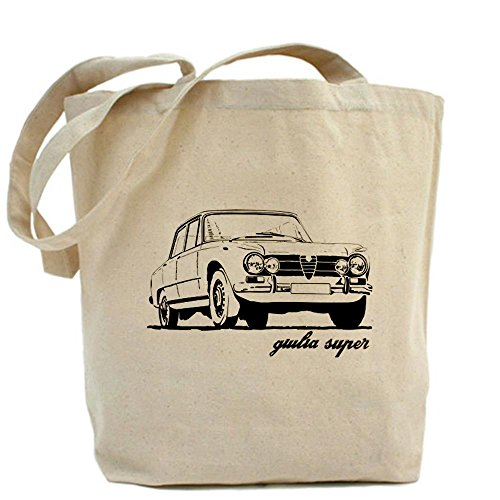 CafePress - Alfa Romeo Giulia Super Tote Bag - Natural Canvas Tote Bag, Cloth Shopping Bag