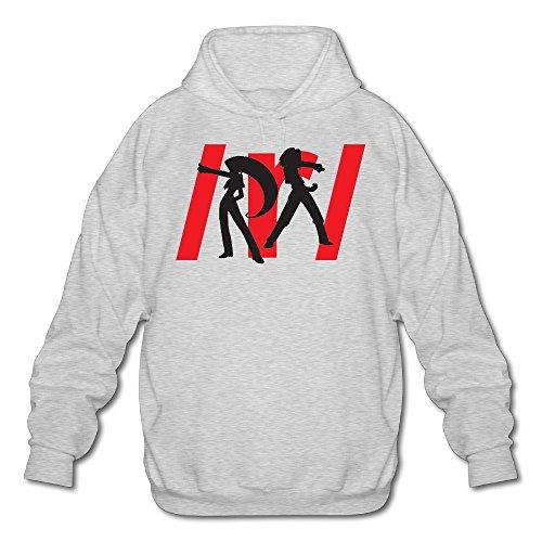 MARC Men's Team Rocket Hooded Sweatshirt Ash Size M (Karaoke Machine For Iphone 5c)