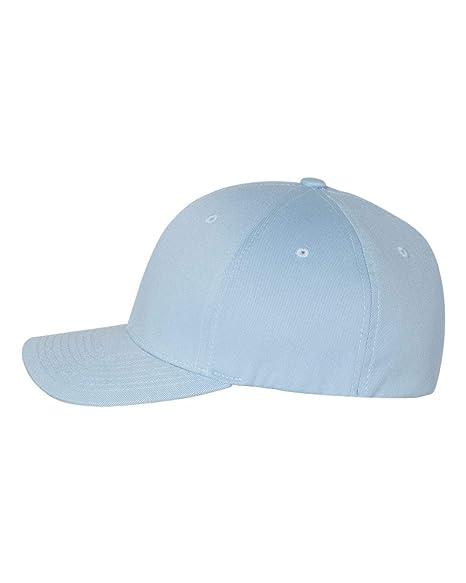 84444068932e Flexfit Men's Seamless Fitted Flexfit Delta Cap, Carbon Blue, Small/Medium