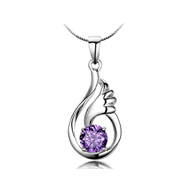 57e80efde03c8 Collares Mujer de Corazón 925 Plata Esterlina Diamante Colgantes Cristales  elementos Swarovski, Regalo de la Joyería by Bravetzx  Amazon.es  Joyería