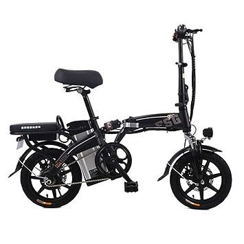 LETFF Bicicleta Eléctrica Plegable para Adultos De 14 Pulgadas, Bicicleta Eléctrica Plegable De 48V 350W