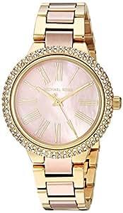 MICHAEL KORS Women's MK6564 Year-Round Analog-Digital Quartz Rose Gold Band Watch