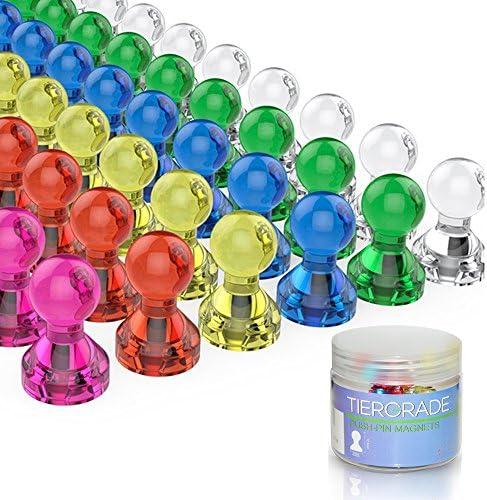 12pcs Neodymium Magnets Metal Push Pin Skittle Fridge Magnets Whiteboard Strong