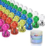 #9: Push Pin Magnets, Fridge Magnets, Tiergrade 60 Pack 7 Assorted Color Strong Magnets, Use at Home School Classroom and Office Magnets, Magnets for Refrigerator Dry Erase Board and Whiteboard Magnets