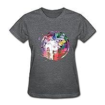 RILI Women's Walk The Moon T-shirt Size M DeepHeather