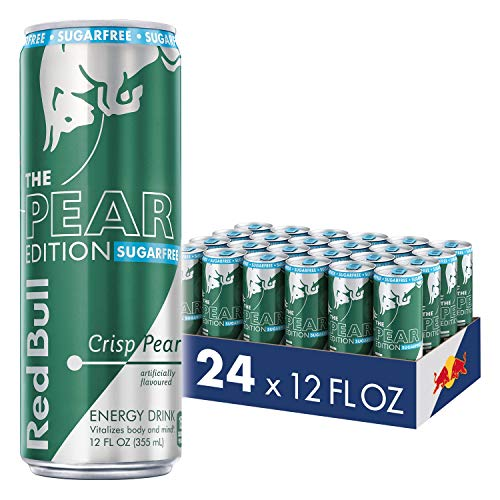 Red Bull Energy Drink, Sugar Free Crisp Pear, 24 Pack of 12 Fl Oz, Sugarfree Pear ()