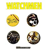 NECA Watchmen Movie 'Who Watches The Watchmen' 4-Pin Set