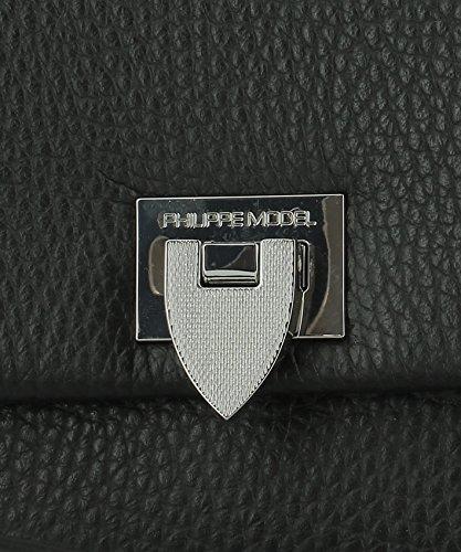 Philippe Model Borsa A Mano Donna B01DY008 Pelle Nero