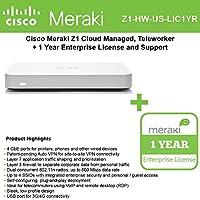 Cisco Meraki Z1 Cloud Mngd Teleworker Gwy+ 1yr of Enterprise Lic. and Support