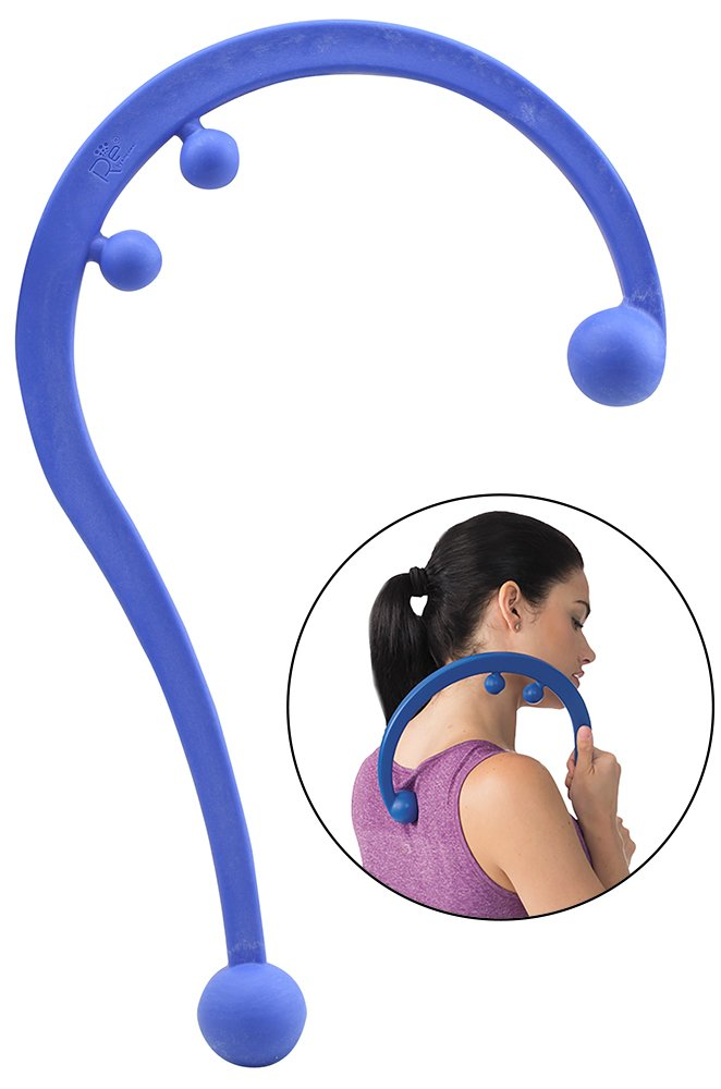 Empower Back and Neck Massager Tool, Trigger Point Self Massage Hook, Myofascial Release, Deep Tissue Massage Hook, Muscle Knots, Blue by Empower