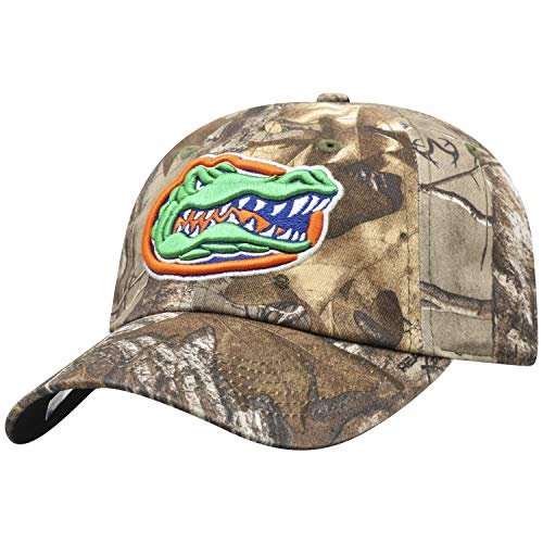 Top of the World NCAA Men's Real Tree Camo Adjustable Icon Hat, Florida Gators -