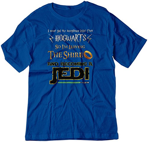 BSW Youth Harry Potter Lord of The Rings Star Wars Jedi Fan Shirt MED Royal Blue (Hogwarts Tshirt Jedi Shire)