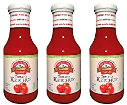 Trinity Hill Farms Tomato Ketchup 12oz Sweetened with Stevia (PACK of 3)