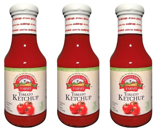 Farms Ketchup (Trinity Hill Farms Tomato Ketchup 12oz Sweetened with Stevia (PACK of 3))