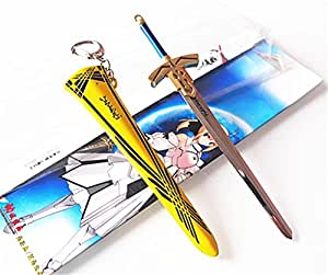 Fate stay night Excalibur sword of victory Keychain Pendant 17cm Metal C#